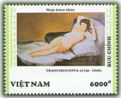 Vietnam Viet Nam MNH Perf Stamp 1992 : Spanish Art Painting / Maja Nude Of F. Goya (Ms644) - Vietnam
