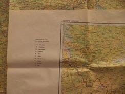 Carte De L'Institut Géographique National Au 1 / 1 000 000 - Hongrie - Budapest - Landkarten