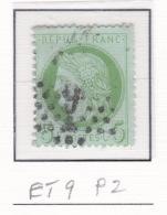 Etoile 9 P2-1 Sur 53 - Marcophilie (Timbres Détachés)