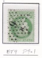 Etoile 9 P9-1 Sur 53 - Marcophilie (Timbres Détachés)