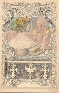 Gaston Noury, Femme Au Chapeau Et Miroir, Coffre. - Autres Illustrateurs