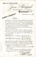 VINS DU ROUSSILLON  JEAN RAYNAL PROPRIETAIRE VITICULTEUR A PERPIGNAN - Buvards, Protège-cahiers Illustrés