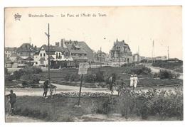 BELGIQUE - WESTENDE BAINS Le Parc Et L'arrêt Du Tram (voir Descriptif) - Westende