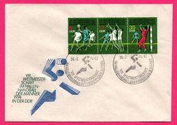 FDC - J.O. - Handball - Berlin - 1974 - Im Hallenhandball Der Männer - 5 + 10 + 35 DDR - Hand-Ball