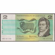 TWN - AUSTRALIA 38a - 2 Dollars 1966-72 FBS 011706 - Signatures: Coombs & Wilson VF - Australia
