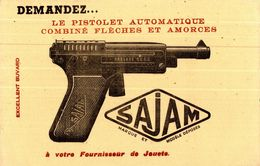 LE PISTOLET AUTOMATIQUE SAJAM  JOUET - Buvards, Protège-cahiers Illustrés