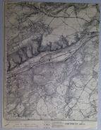 CARTE D ETAT MAJOR 48/2 De 1903 COUTHUIN Héron BAS-OHA WANZE COUTHUIN MOHA BEN-AHIN GIVES ANDENELLE COUTISSE S668 - Héron