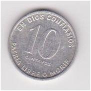 NICARAGUA 10 CENTAVOS 1981 KM # 50 AU - Nicaragua