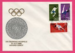J.O. - XIX Olympische Spiele - Mexiko Satdt - Football - Gymnastique - Course - Berlin - 1968 - Ete 1968: Mexico