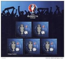 France BF N° F 5050 A ** UEFA EURO_2016 Bloc Football De 5 Timbres En 3D - Sheetlets