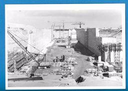 Photographie - Dunkerque - Chantier De Construction De L'écluse Charles De Gaulle - 1970 - Bateaux