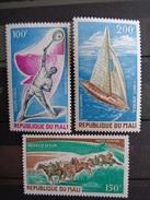 1971 P.A  - Y&T N° 116 à 118  ** - EPREUVES SPORTIVES - Mali (1959-...)