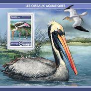 GUINEA 2017 - Water Birds, Pelican S/S. Official Issue - Pelikanen