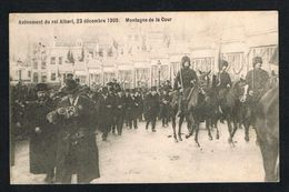 ) OUDE POSTKAART BRUXELLES AVÊNEMENT DU ROI ALBERT  23 DECEMBRE 1909 - Beroemde Personen