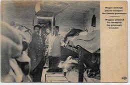 CPA Croix Rouge Militaria Militaire Train Sanitaire écrite - Rode Kruis