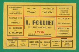 Buvard - L. FOLLIET - LYON - Outillage - Blotters