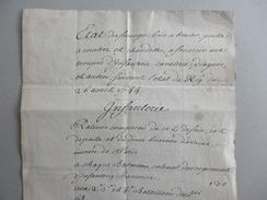 Etat Des Fourages Pour Infanterie, Dragons, Cavelerie 26 Avril 1744 (Louis XV) - Gesetze & Erlasse
