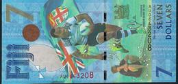 FIJI FIDJI P120 7 DOLLARS 2017  GOLD OLYMPIANS  UNC. ! - Fidji