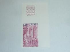 TIMBRE DE FRANCE NON DENTELE N°2049a Palais Royal - BELLE MARGE - NEUF SANS CHARNIERE (C.V) - France