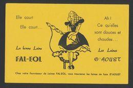 Buvard - LAINE FAL-EOL - Les LAINES D' AOUST - Buvards, Protège-cahiers Illustrés