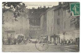 CPA - ENTRECASTEAUX, PLACE CENTRALE - Var 83 - Animée, Circulé  - Edit. Bonnefoy - Other Municipalities