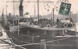 """50 - Cherbourg - Arrivée D'un Train Transaltlantique - Le """" Galliic """" - Magnifique Animation - Cherbourg"""
