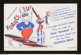 Buvard -  FRANCE OEUF - Coco Bonoeuf 1° - Buvards, Protège-cahiers Illustrés