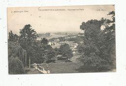 Cp , 94 , VILLENEUVE SAINT GEORGES , Panorama De Paris , Vierge - Villeneuve Saint Georges