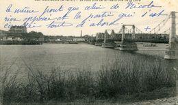 """CPA 338 """"MONTJEAN """"Le Pont Pris De La Rive Droite De La Loire - France"""