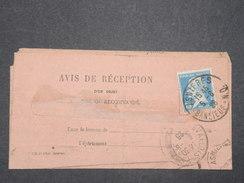 FRANCE - Avis De Réception D ' Un Envoi En Recommandé De Asnières Pour Levallois En 1926 - L 9207 - 1921-1960: Période Moderne