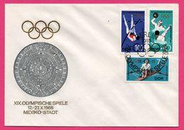 FDC - J.O. - Waterpolo - Canoë - Saut En Hauteur - Mexiko - Berlin - Olympische Spiele Mexiko Stadt 1968 - DDR - Ete 1968: Mexico