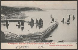Mevagissey Luggers, Cornwall, 1904 - S J Dalby-Smith Postcard - Other