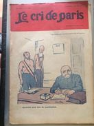 Le Cri De Paris Les Elections Sont Ajournees Jusqu'a La Fin De La Guerre Clemenceau  Pub Lampe Z Janvier 1918 - Journaux - Quotidiens
