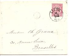 Omslag Uit 1889 Vanuit Liege Naar Bruxelles1 - Entiers Postaux