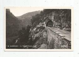 Cp , 38 , SASSENAGE ,le Tunnel D'ENGINS , Face , Voyagée 1954 - Sassenage