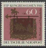 Deutschland Germany 1980 Mi 1065 YT 911 ** Posthouse Sign, Altheim Saar (French Side) (1754), Int.Philatelic Federation - Postzegels