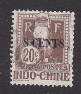 Indo China, Scott #J23, Used, Dragon Surcharged, Issued 1919 - Indochina (1889-1945)