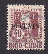 Indo China, Scott #J25, Used, Dragon Surcharged, Issued 1919 - Indochine (1889-1945)