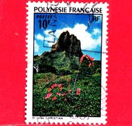 POLINESIA FRANCESE - Usato - 1974 - Paesaggi - Montagna E Fiori - Landscapes - 10 - Polinesia Francese