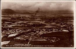 ! 1934 Alte Ansichtskarte Dittersbach Und Waldenburg In Schlesien, Stempel Andreas Baude - Schlesien