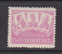 Afghanistan SG 397 1955 37th Year Of Independence 35p Mauve MNH - Afghanistan