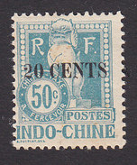 Indo China, Scott #J26, Mint Hinged, Dragon Surcharged, Issued 1919 - Indochina (1889-1945)