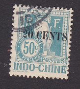 Indo China, Scott #J26, Used, Dragon Surcharged, Issued 1919 - Indochina (1889-1945)