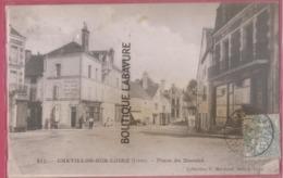 45 -CHATILLON SUR LOIRE---Place Du Marché---épicerie-Foin--avoine--animé - Chatillon Sur Loire