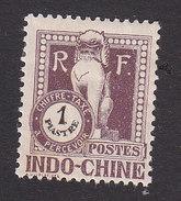 Indo China, Scott #J43, Mint Hinged, Dragon, Issued 1922 - Indochina (1889-1945)