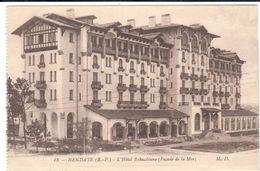 POSTAL   HENDAYE  -FRANCIA  -HOTEL ESKUALDUNA-FACHADA FRENTE AL MAR  ( L'HÔTEL ESKUALDUNA-FAÇADE DE LA MER) - Hendaye