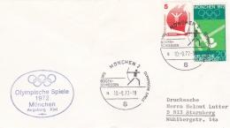 Germany   Cover München 1972 Olympic Summer Games - Bogen Schiessen   (DD1-2) - Summer 1972: Munich