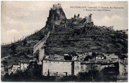 07 ROCHEMAURE - Chateau Des Tournelles Et Ruines Du Vieux Chateau  (Recto/Verso) - Rochemaure