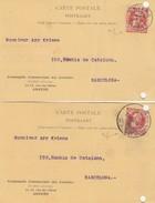 BELGIQUE - 2 CARTES POSTALES 1907 AVEC TIMBRE PERFORE C.C.C. COMPAGNIE COMMERCIALE DES COLONIES / 6984 - Belgio