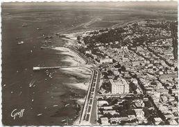 Arcachon Vue Aerienne Les Plages La Promenade Le Grand Hotel Et Le Victoria Circulee En 1958 - Arcachon